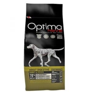 Optima Nova Adult Digestive Rabbit and Potato корм для собак