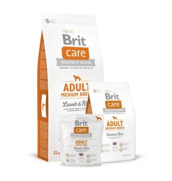 Brit Care Adult Medium Breed (ягненок и ри) корм для собак
