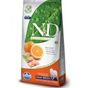 Farmina ND Grain Free Fish and Orange Adult Maxi корм для собак