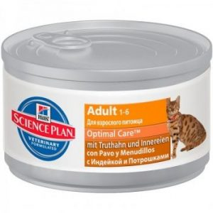 Hill's Adult Optimal Care консервы для кошек