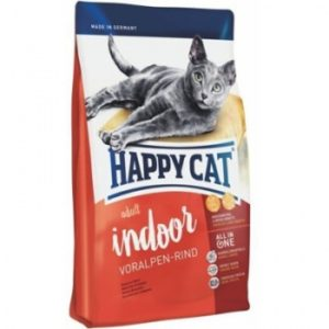 Happy Cat Supreme Indoor Voralpen Rind сухой корм для кошек